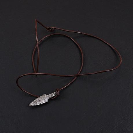 Damascus Arrowhead Pendant // 1973