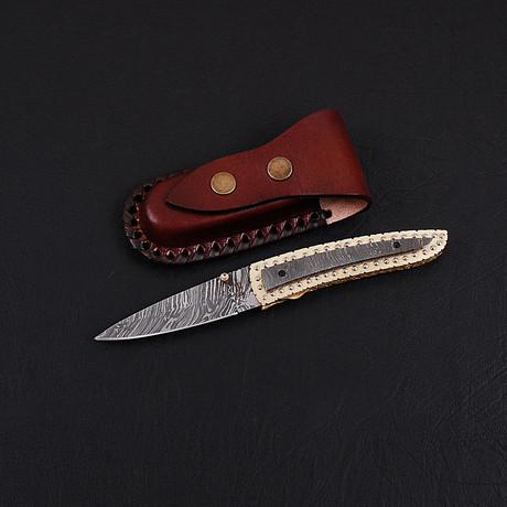 Damascus Folding Knife // 2750