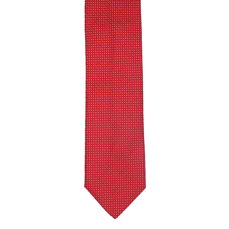 Salvatore Ferragamo // Geometric Silk Tie // Red - Salvatore