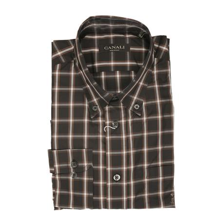 Plaid Regular Shirt // Brown (US: 41)