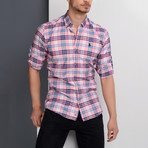 G663 Plaid Button-Up Shirt // Pink (2XL)