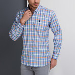 Cody Grid Button-Up Shirt // Blue + Green (3X-Large)