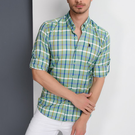 Isaac Button-Up Shirt // Green (Large)