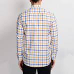 Isaac Button-Up Shirt // White + Yellow (Small)
