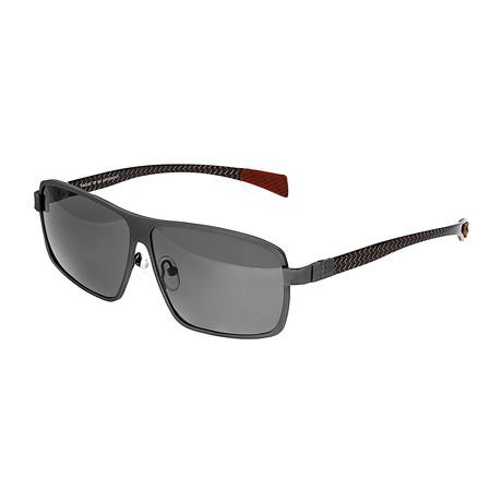 Finlay Polarized Sunglasses // Titanium (Black Frame + Black Lens)