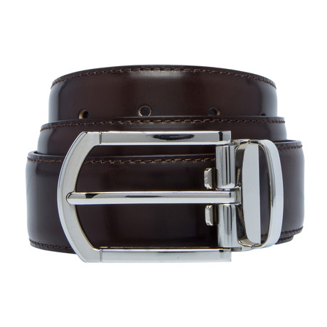 "Shiny Leather Belt // Testa Di Moro (30"")"