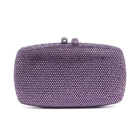 Swarovski Evening Bag Clutch // Violet