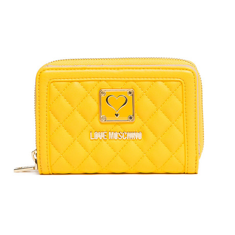 Quilted Wallet // Yellow