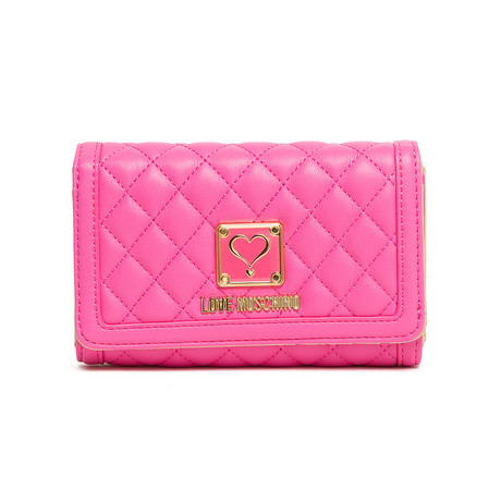 Quilted Wallet // Pink