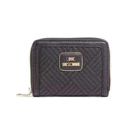 Pebbled Wallet // Black