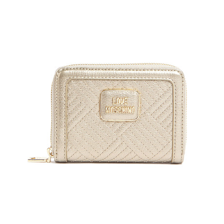 Pebbled Wallet // Gold
