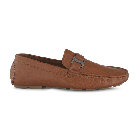 Slip-On Driving Moccasins + Side Buckle // Brown (US: 8)
