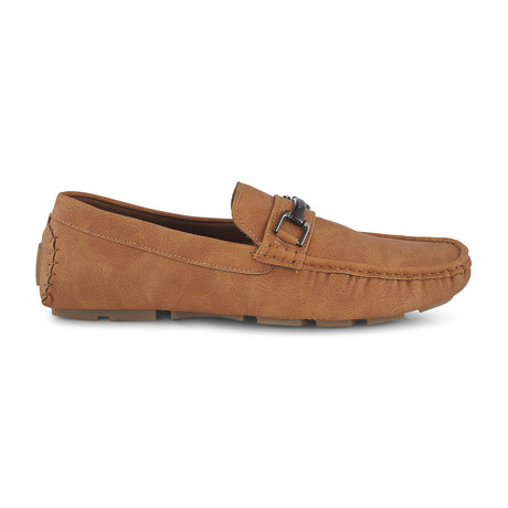 Slip-On Driving Moccasins + Center Buckle // Wheat (US: 8)