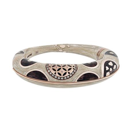 Nouvelle Bague Hammam della Rosa 18k Rose Gold Diamond + Enamel Bangle Bracelet