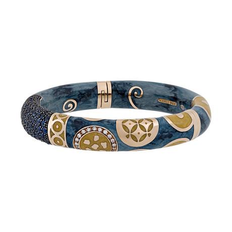 Nouvelle Bague Hammam della Rosa 18k Rose Gold Multi-Stone Bangle Bracelet