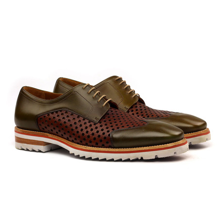 Mateo Derby // Brown + Khaki (Euro: 40)