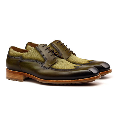 Joaquin Derby // Military Green + Brown (Euro: 40)