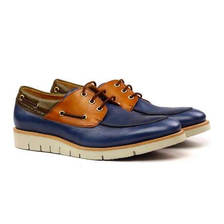 Bruno Nautical Shoes // Blue + Olive + Cognac (Euro: 40)