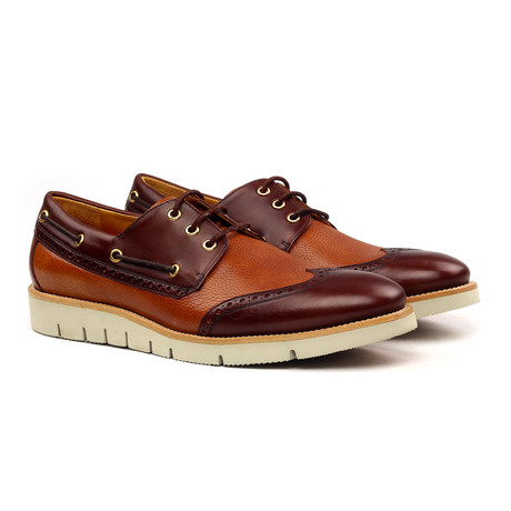 Alexander Nautical Shoes // Brown + Cognac (Euro: 40)