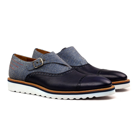 Axel Single Monk Strap // Blue (Euro: 40)
