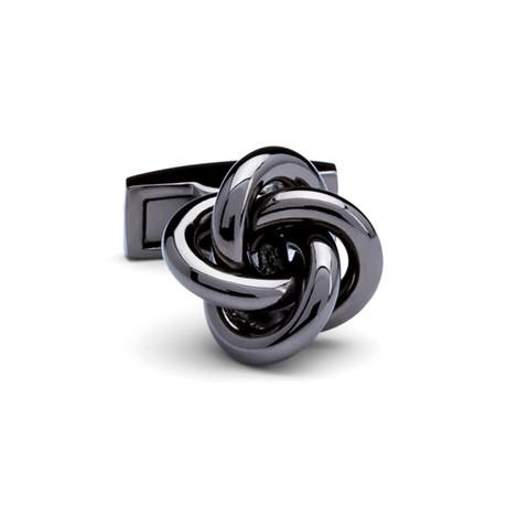 Knot Metal Cufflinks // Gunmetal