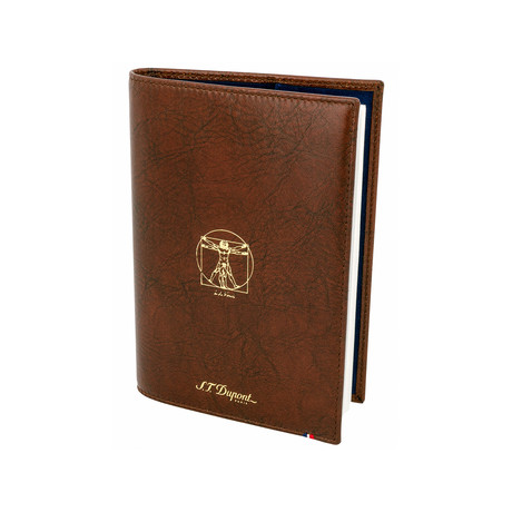 Vitruvian Man Brown Leather Notebook