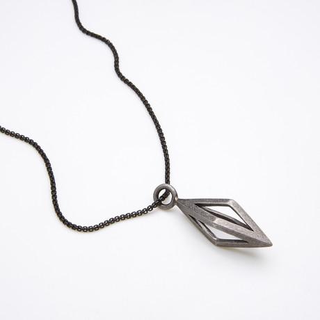 Prisma Necklace // Antiqued Silver