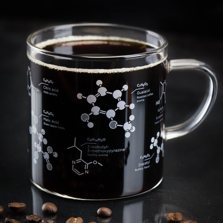 Chemistry Of Coffee // Glass Mug
