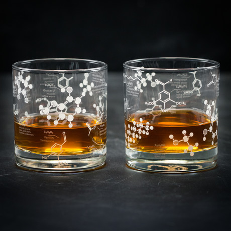 The Science of Whiskey // Chemistry Rocks Glass Set