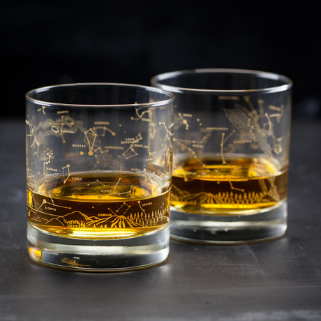 Night Sky // Whiskey Lowball Glass Set