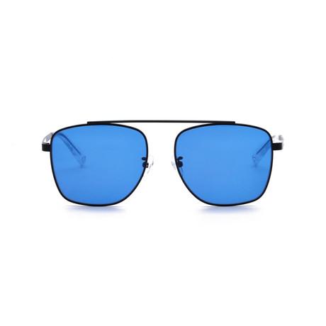 Generation Sunglasses // Black + Solid Blue