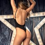 Alessandra Strappy Bodysuit // Black (L)