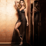 Lais Long Nightgown // Black (XS)