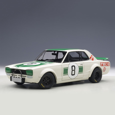Nissan Skyline GT-R (KPGC-10) // Racing 1971 Masahiro Hasemi #8 // Japan GP 2nd Place