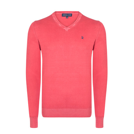 Hodor Washed Spring Pullover // Red (XS)