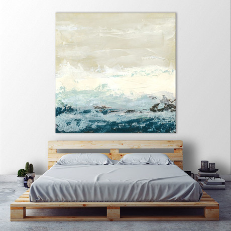 "Coastal Currents I (54""W x 54""H x 1.25""D)"