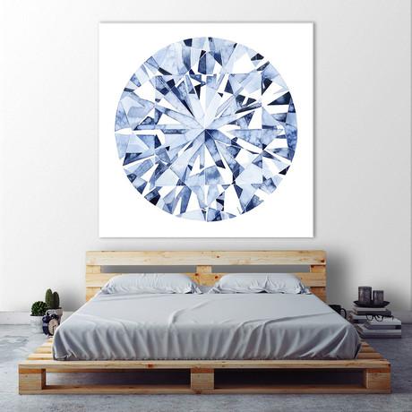 """Diamond Drops I (54""""W x 54""""H x 1.25""""D)"""