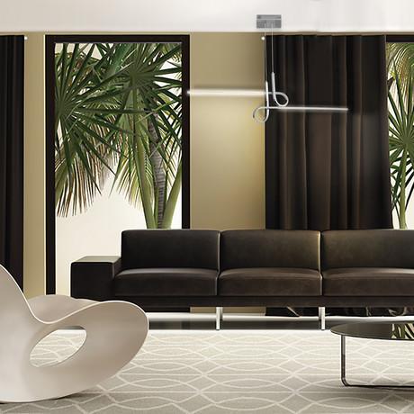 Zara Pendant Lamp (Chrome)