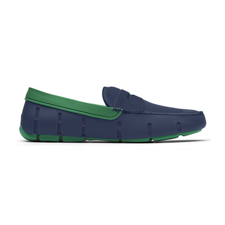 Penny Loafer // Navy + Jolly Green (US: 7)