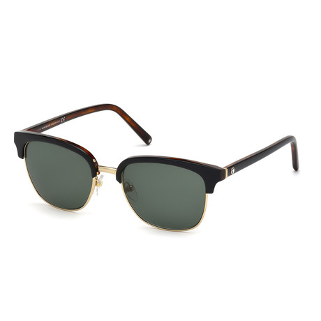 Montblanc // Men's Classic Sunglasses // Black + Gold + Gray