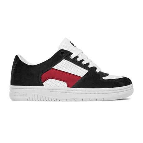 Senix Lo Sneaker // Black + White + Red (US: 5)