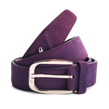 """Blake Suede Belt // Purple (33"""" Waist)"""