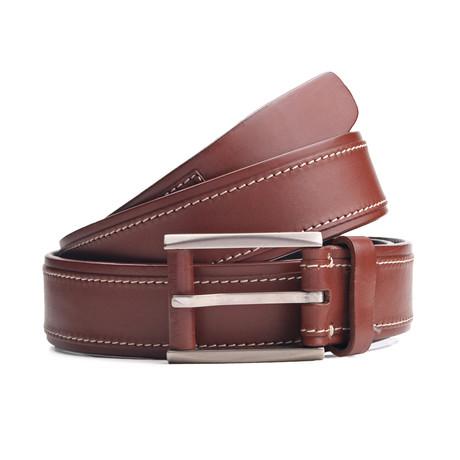 """Jaspar Leather Belt // Brown (33"""" Waist)"""