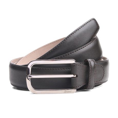 "Jordan Leather Belt // Black (33"" Waist)"