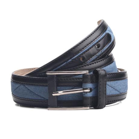 "Kane Leather Belt // Navy (33"" Waist)"