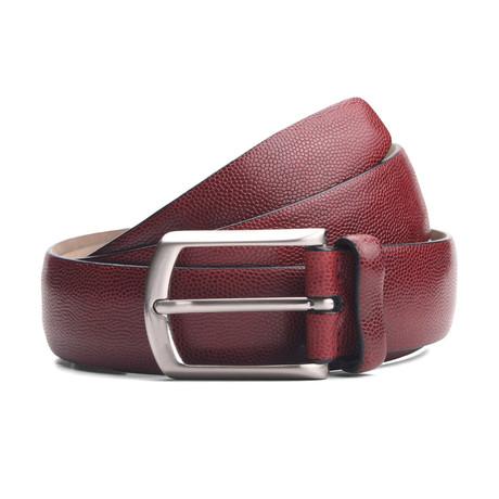 "Kyle Leather Belt // Burgundy (33"" Waist)"