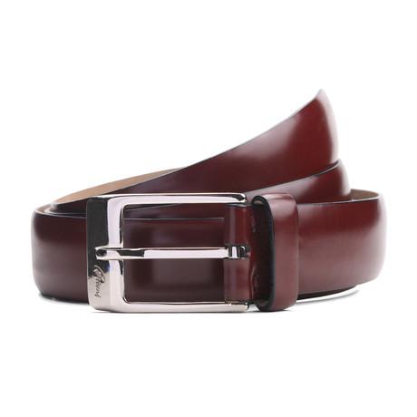 "Wick Leather Belt // Mahogany (33"" Waist)"
