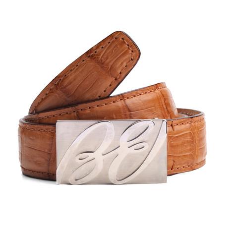 "Henry Leather Belt // Beige (33"" Waist)"