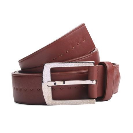 """Collins Leather Belt // Brown (33"""" Waist)"""