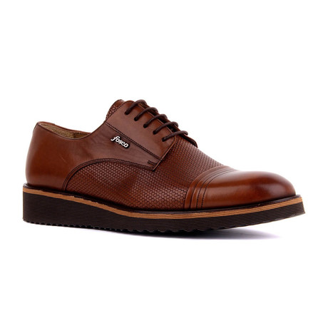 Kanz Two-Tone Textured Dress Shoes // Tobacco (Euro: 37)